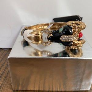 NWT J Crew jeweled rams head bracelet